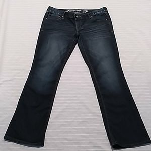 Express Slim, Low Rise Bootcut  Blue Jeans
